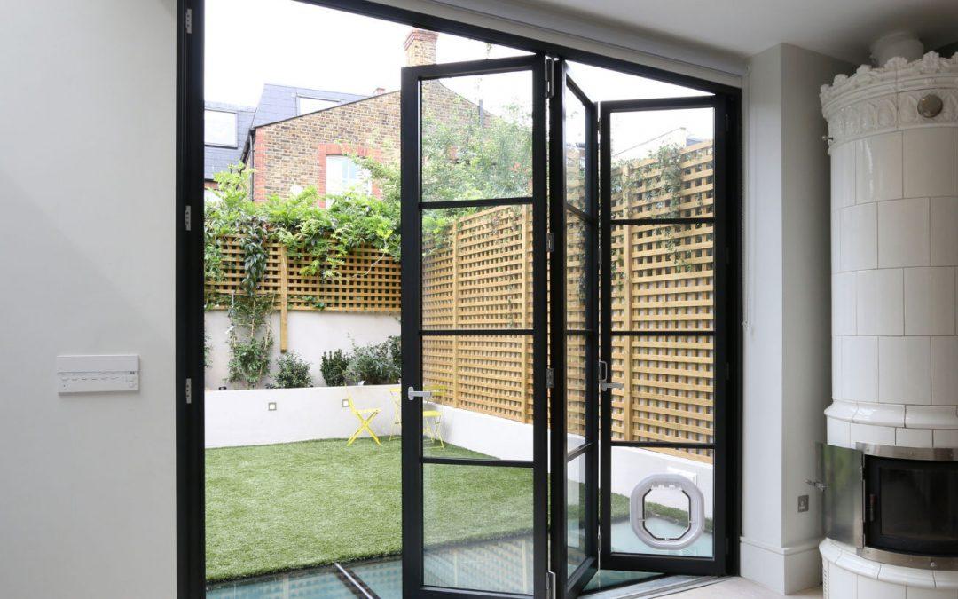 Steel Look Bifolding Doors featured in Build It