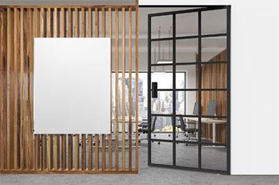 Miro Glass Internal Pivot Door
