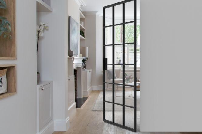 Miro internal glass pivot door