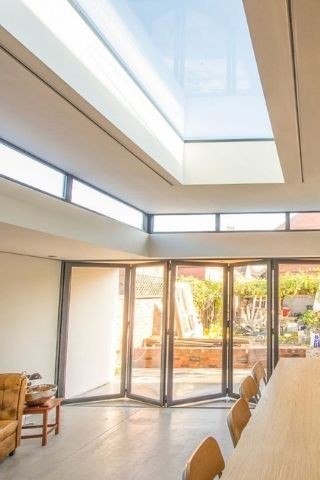 rooflight with internal laminated glass pane