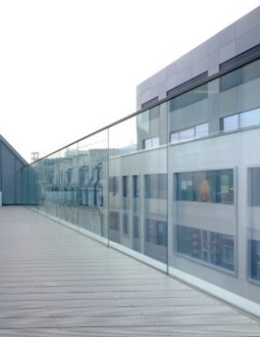 glass balustrade on a balcony