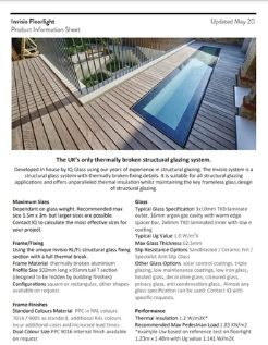 invisio thermally broken floorlight product data sheet cover page