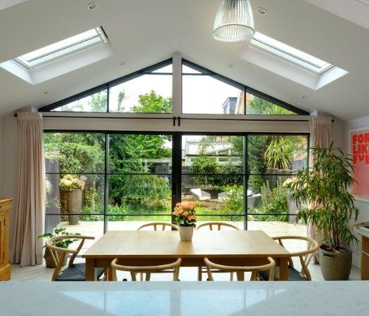 modern aluminium framed glazing from sieger