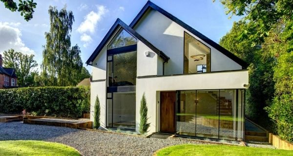 sieger glazing package including slim sliding glass doors and casement windows