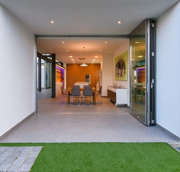 Sieger lux bifold door used on a new build home in greece