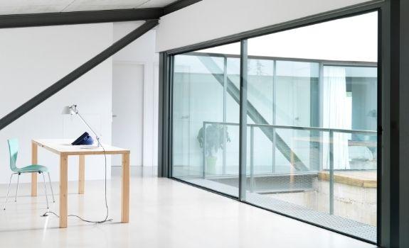 oversized sliding glass door with ultra slim sightlines and minimal aluminium framing