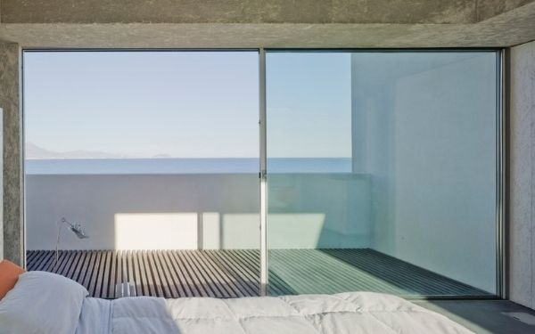 sieger XL oversized sliding glass doors leading out to and external balcony area