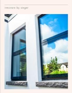 Innovare by sieger flush glazed aluminium casement window data sheet cover