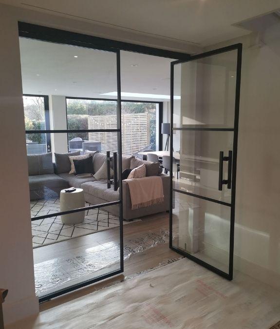 MIRO Pivot supply only trade aluminium internal glass door