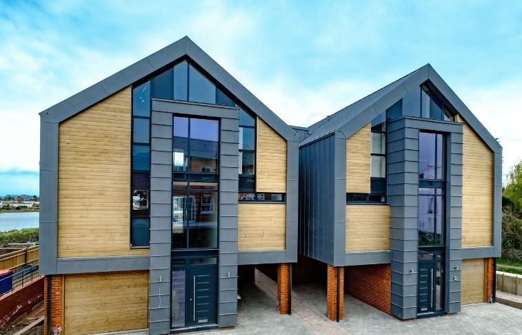 sieger slim framed aluminium glazing used in a glazing package for a residential development