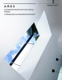 ARES auto venting rooflight system product data sheet cover