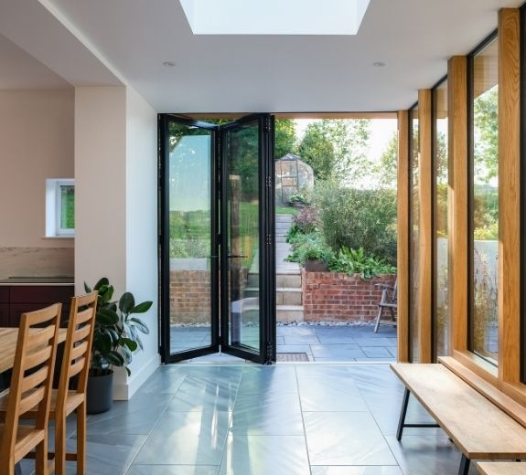 side infill extension with a modern kit